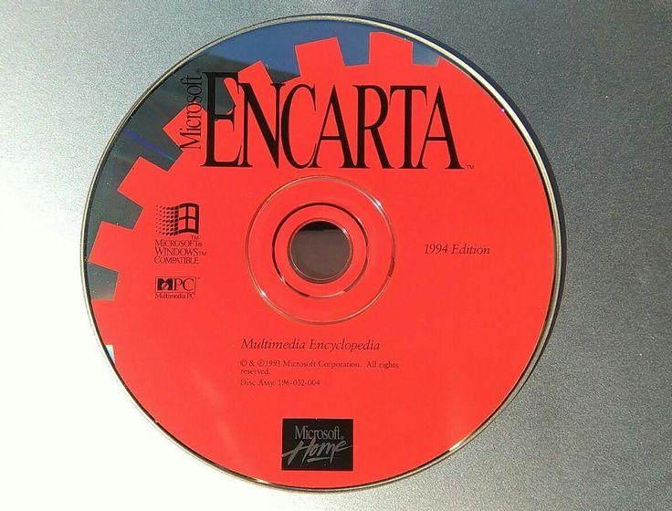 Microsoft Encarta Multimedia Encyclopedia 1994 Edition #Microsoft #Encarta #Encyclopedia #information #research #study #homework #school #learning #CDROM #software #computer #technology