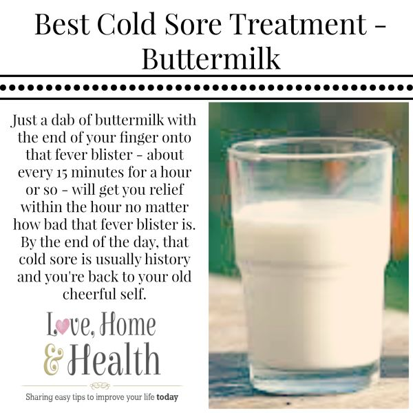 We're talking today about home remedies and this one is for cold sores and fever blisters. IT IISN'T POSSIBLE that you have a remedy that works faster! :-)
