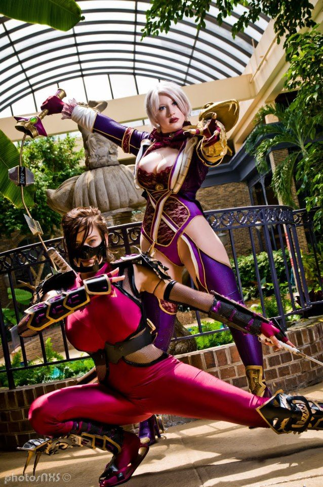 Taki & Ivy (Soulcalibur), cosplayed by Miss Sinister ...