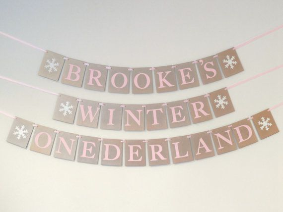 Winter ONEderland Birthday Banner Girl by SignsationalSayings