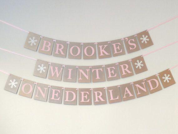 Winter ONEderland Birthday Banner Girl by SignsationalSayings