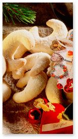 Vanilla Crescents - German Christmas Cookies    (Vanillekipferl)