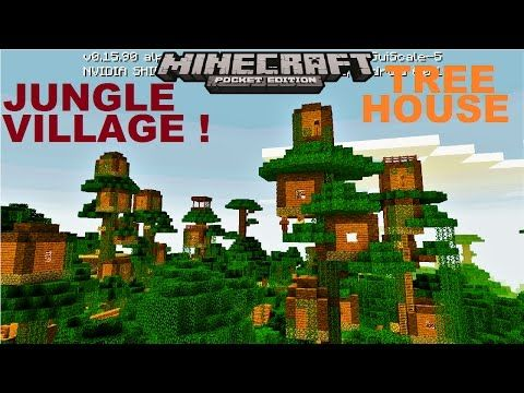 Minecraft PE - VILLAGE NEXT TO MANSION AND RAVINE ! SEED MCPE 1 2 8