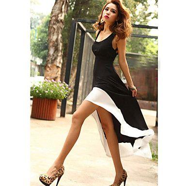 Women's Casual/Party/Sexy Micro-elastic Sleeveless Above Knee/Asymmetrical Dress ( Silk )(746279) – USD $ 11.66