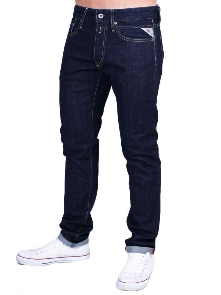 REPLAY Jeto Ανδρικό χαμηλοκάβαλο παντελόνι τζιν, στενό πόδι, σκούρο μπλε χρώμα. 136,00 €
