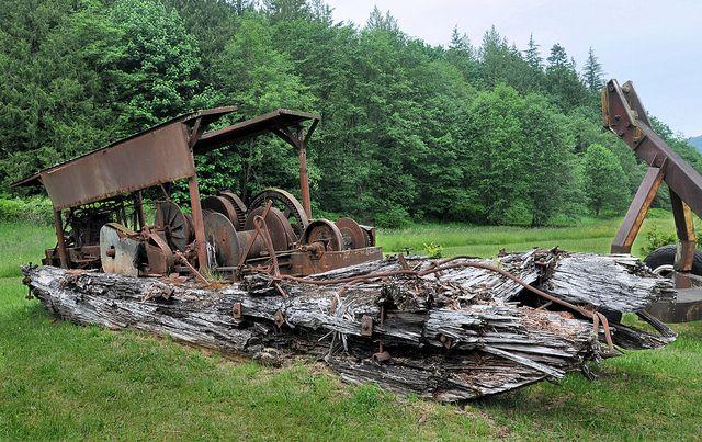 old logging machinery | Old Logging Equipment