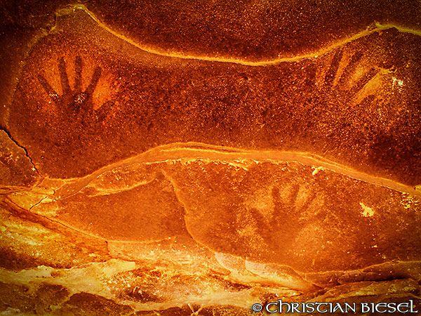 Handprints at Fallen Roof Ruin