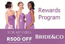 Take advantage of Bride&co's Rewards Program to enjoy big savings so your entire bridal party can look just as incredible as you do on your #wedding day! Click to View the Specials.