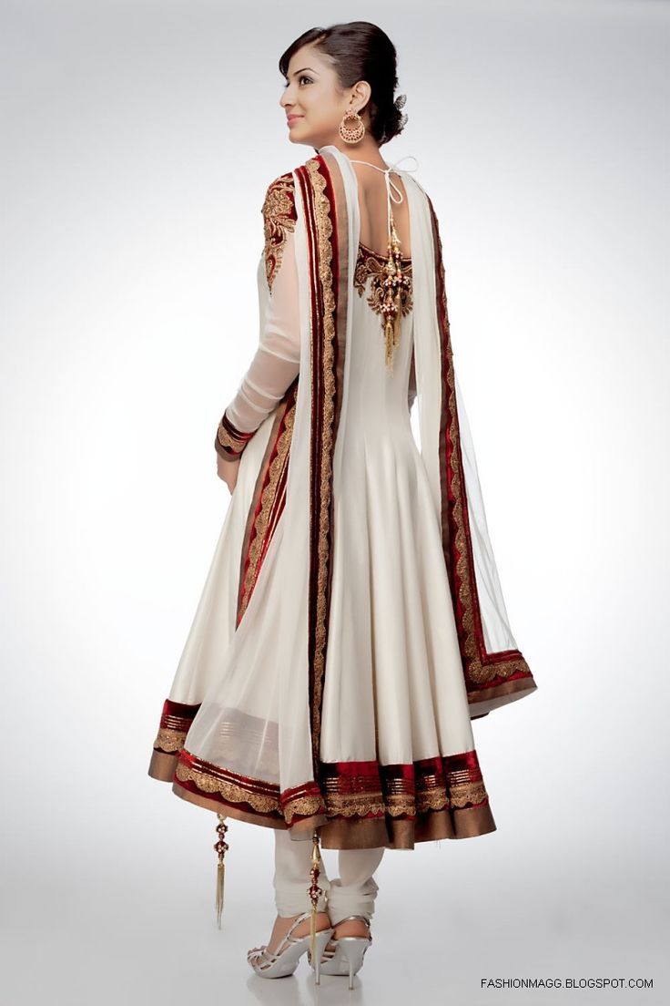Stylish white dress wedding umbrella frocks churidar designs - Find This Pin And More On Dresses Designes