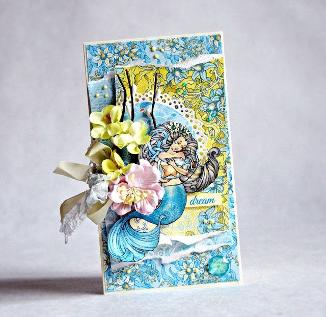 ScrapBerry's: Absolutely gorgeous Ocean Enchantment card made by Anna Zaprzelska