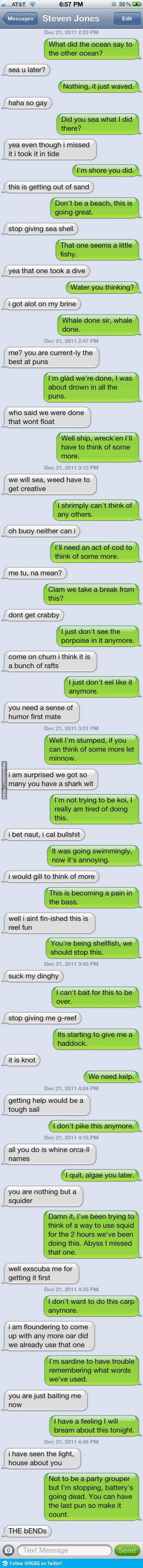 Text puns. These are the conversations me and Ally have erryday...