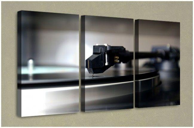 Triptych Canvas Artwork - The Love Of Vinyl