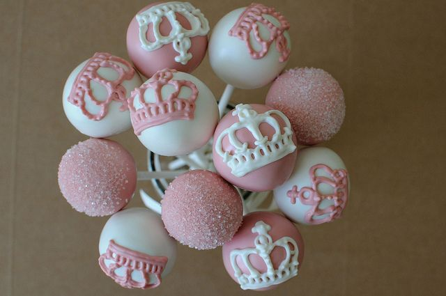 Pink and White Princess Cake Pops by Sweet Lauren Cakes, via Flickr