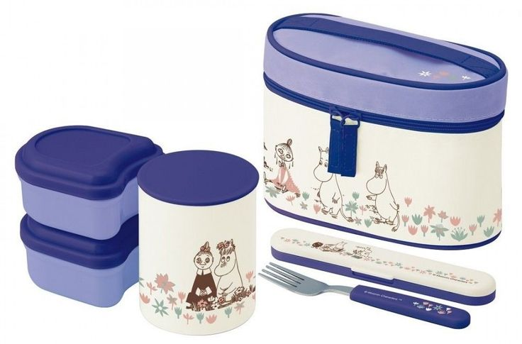New Skater  Moomin Thermal Lunch box Bento Bowl container set Keep warm Japan #Skater