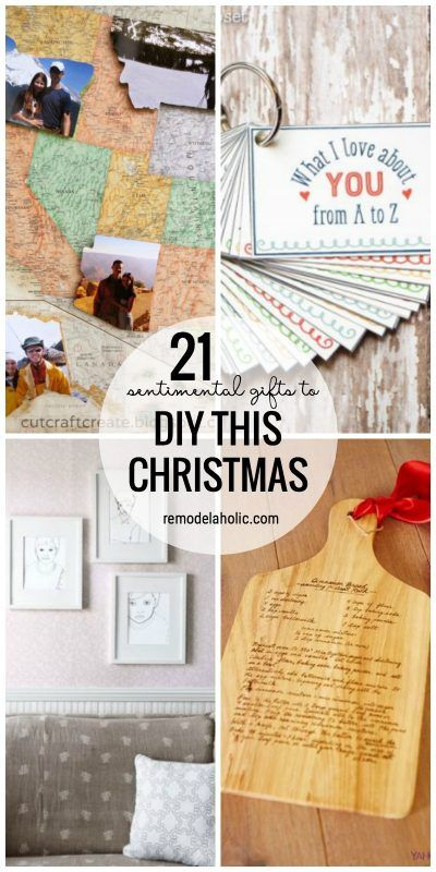 25 best ideas about sentimental gifts on pinterest for Diy sentimental gifts
