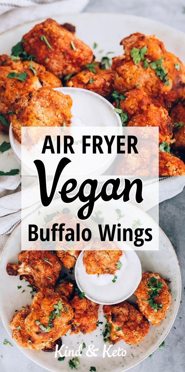 Spicy Vegan Cauliflower Buffalo Wings With Yogurt Dip Recipe In 2020 Vegan Buffalo Wings Vegan Cauliflower Vegan Buffalo Wings Recipe