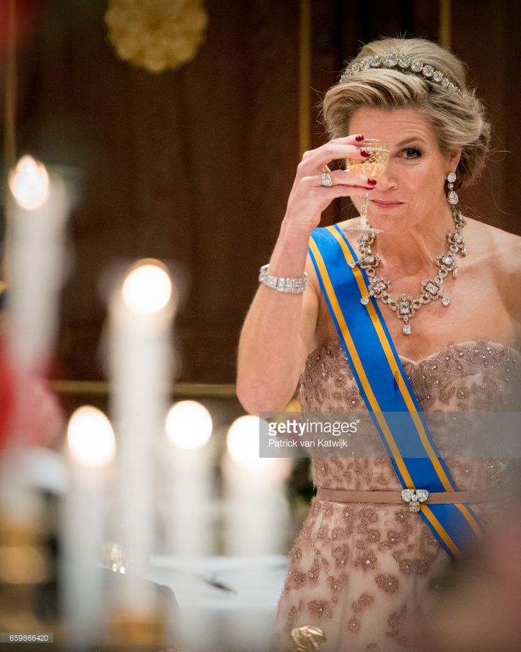 - Queen Maxima of The Netherlands during the state banquet for the Argentinean president in Amsterdam on March 27, 2017 in Amsterdam, The Netherlands. The President of Argentina is in The Netherlands for an two day state visit to The Netherlands.