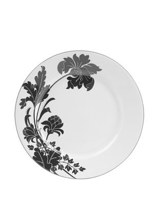 64% OFF Mikasa Cocoa Blossom Accent Plate, White/Dark Brown Iris