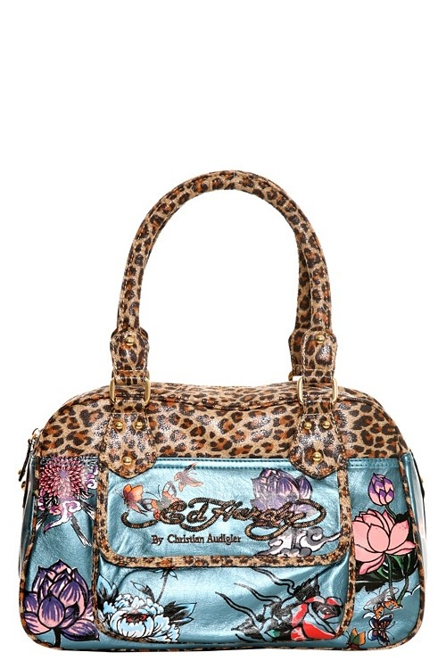 Ed Hardy. Wild Flower Handbag. I really like this bag! It would be hard to carry and I could care less that it's Ed Hardy either way... but it's garish and fabulous. $155