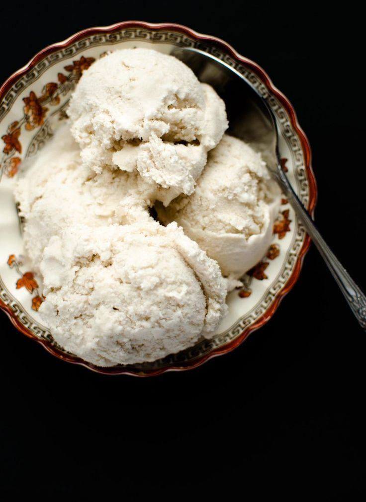 Vanilla Ice Cream. Vegan. We suggest Original Almond Breeze :)