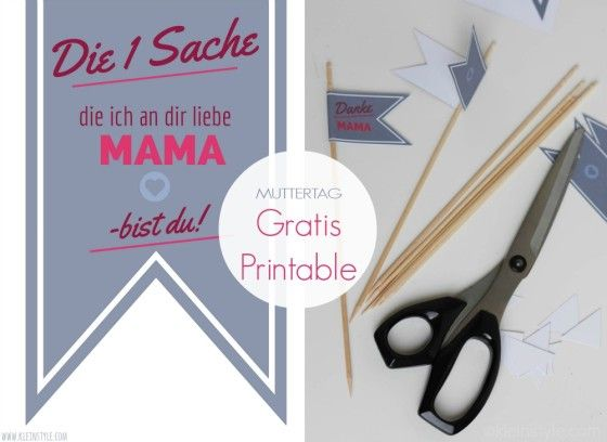 muttertag gratis printable danke mama / mothers day free printable thank you Mommy by kleinstyle.com