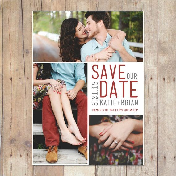 Printable Save The Date Postcard  Squared by CardcandyFL on Etsy