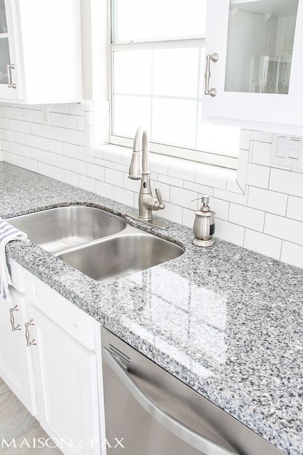 white kitchen with grey granite Best 25+ Gray granite countertops ideas on Pinterest
