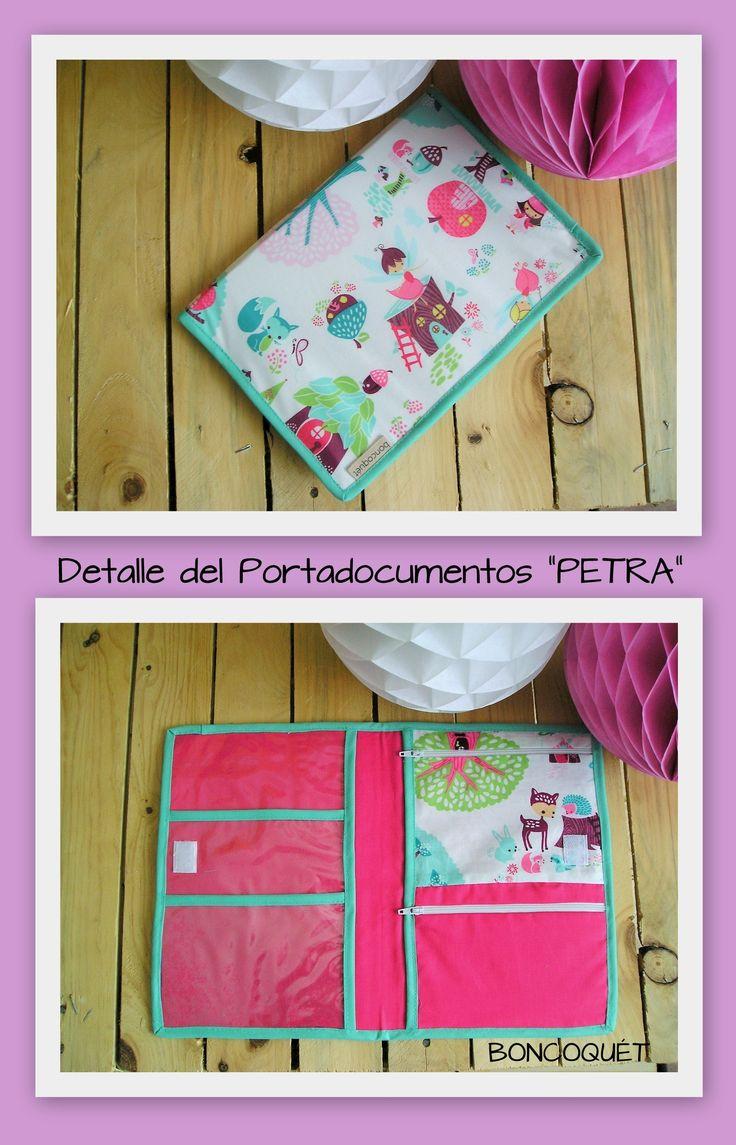 "Portadocumentos bebe ""PETRA"" www.facebook.com/boncoquet"