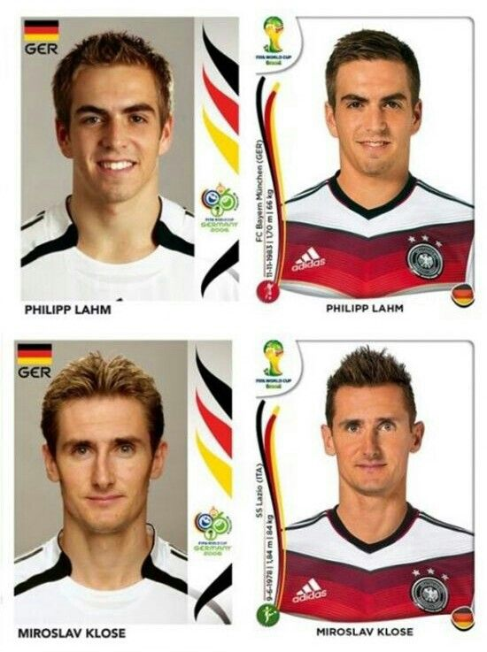 Klose and Lahm then and now. Man, I miss these two!