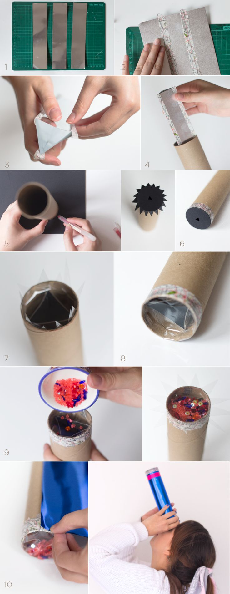 Haz tu propio caleidoscopio