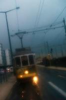 tranvía de noche