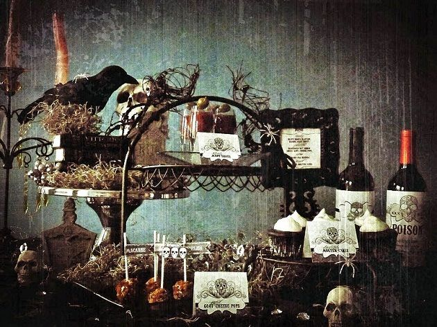 wicked themed halloween party id do less skulls more witch