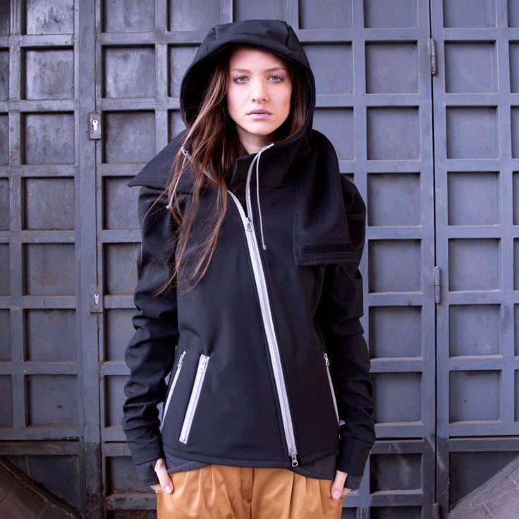 Urban Legend Winterbreaker ladies Cycling jacket - Black (reflective zippers) | Cyclechic | Cyclechic