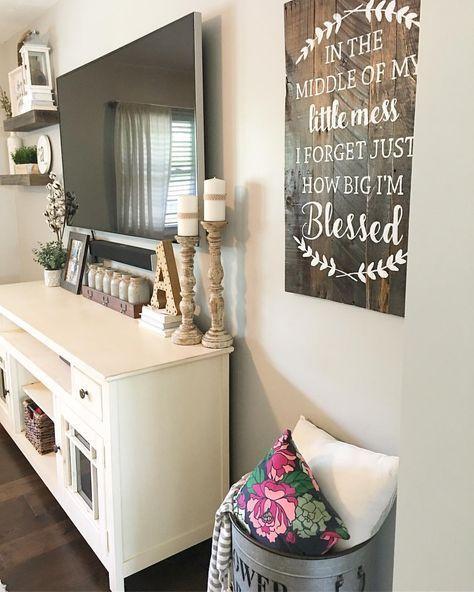 Split Level Living Room, Living Room Decor, Farmhouse Decor, Farmhouse Style,  Rustic Decor, Modern Farmhouse, Target Decor, Hobby Lobby Decor, Living Room  ...