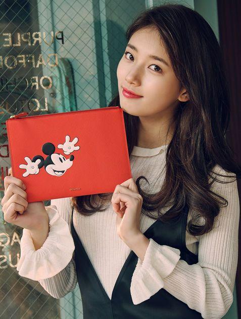 [BEANPOLE ACCESSORY] 2017 SS Disney Clutch - White/Black/Red with MissA Suzy #BEANPOLE #Clutch