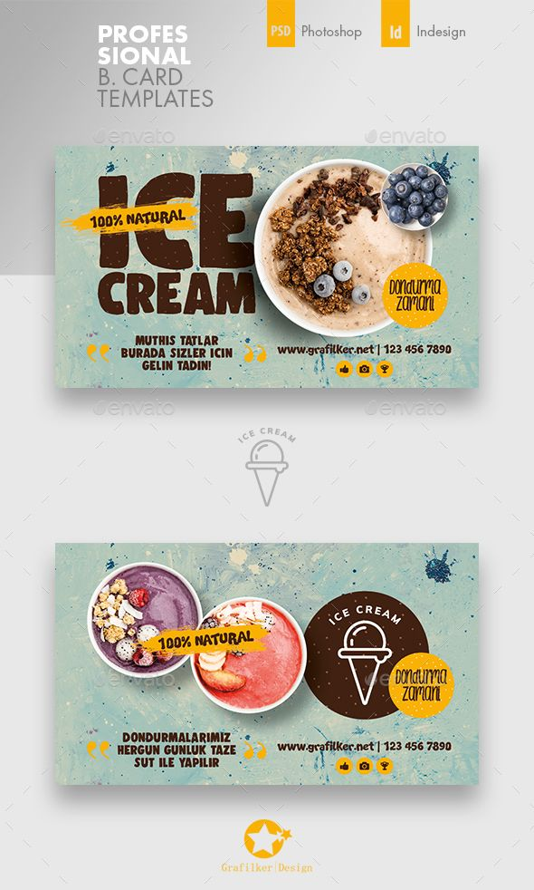 Best Ice Cream Business Card Creativework247 Fonts Graphics Themes Te Ice Cream Business Visiting Card Design Website Themes Templates