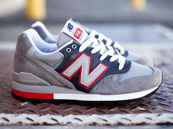 New Balance 996 - Grey / Navy - Red | KicksOnFire