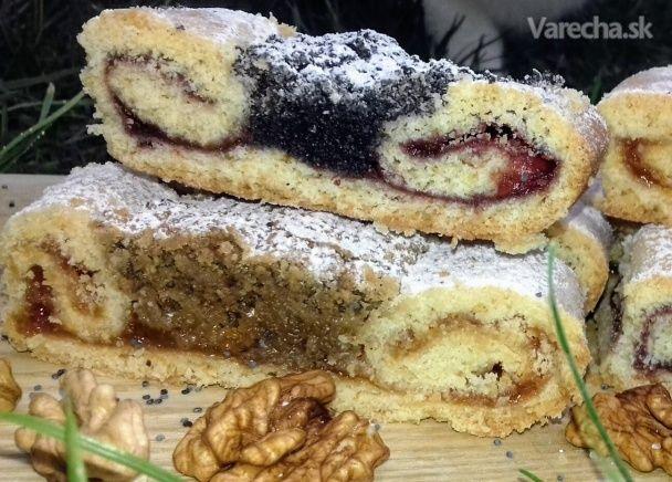 Orechové a makové koláče s lekvárom (fotorecept) - Recept