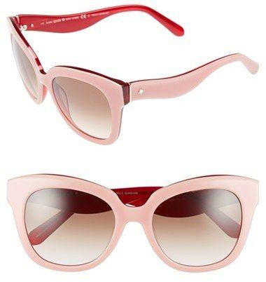 Kate Spade New York Kate Spade New York 'amberly' 54mm Cat Eye Sunglasses