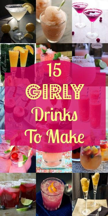 15 Girly Drinks to Make | My Girlish Whims  #drinks #beverages