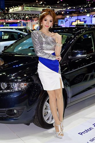 Beautiful, sexy presenter for Proton at the 30th Thailand International Motor Expo 2013