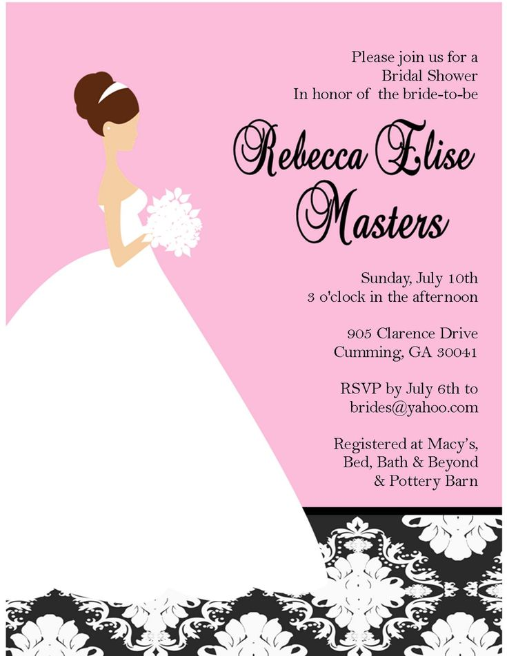 149 best bridal shower invitations images on Pinterest - free templates for invitation cards