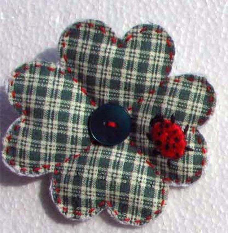spilla ricamo brooch embroidery