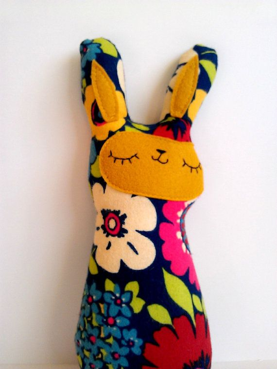 handmade spring bunny plush Mazie by sleepyking on Etsy