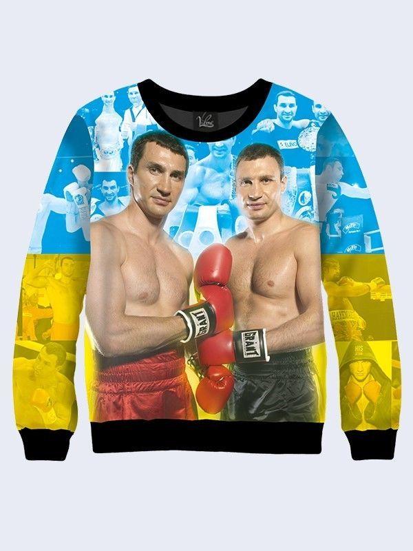 Men's, male, boyish, for boys 3D-print sweatshirt-Klitschko, boxing. Long Sleeve #Vilno #SweatshirtCrew