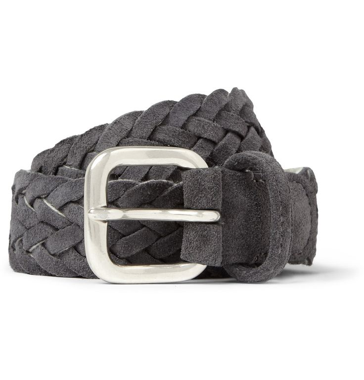 Anderson's Woven-Suede and Fabric Belt | MR PORTER