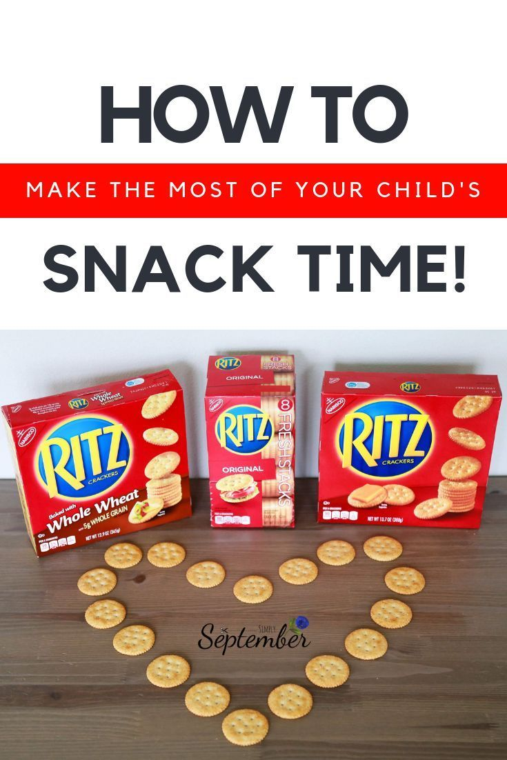 How To Turn Snack Time Into Learning Time