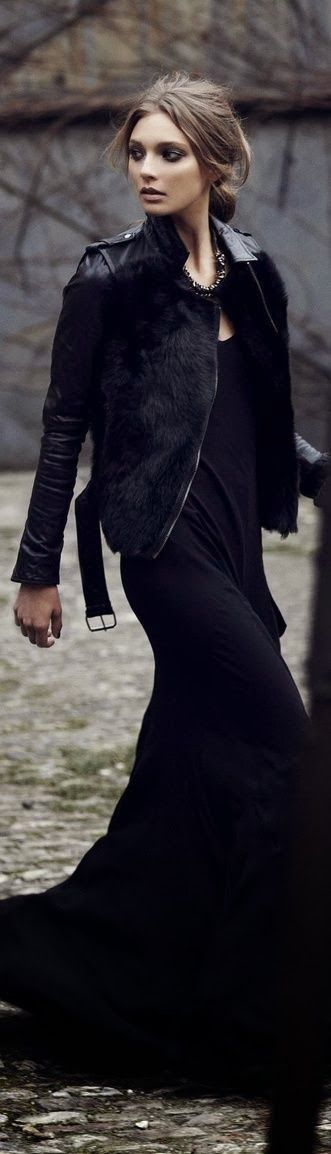 This jacket is to die for <3 All Black street style