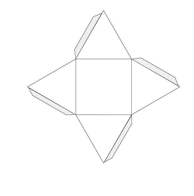 Бумаги открытки, как сделать геометрическую картинку