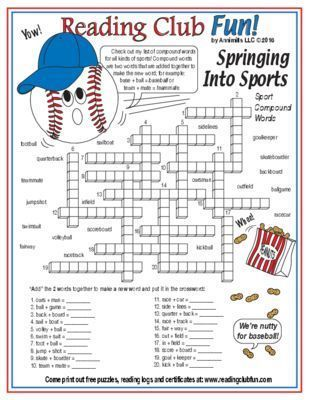 IT'S TIME for BASEBALL - Enjoy a Baseball and Spring Sports-themed Two-Page Activity Set and Crossword Puzzle with this discounted bundle! Includes the following products:   Time for Baseball Two-Page Activity Set   Spring Sports Compound Words Crosswor